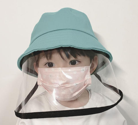 Kids Dust Cover Full Face Cap Multifunctional Hat Children Anti Dust/Fog Protect Droplets Spreading Prevent Hat