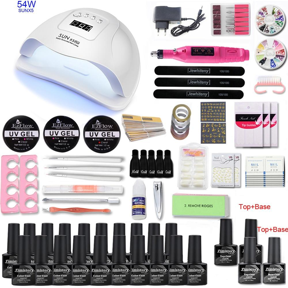 Nail set for Manicure with UV Nail Lamp 80/54W 20000RPM Manicure Machine Manicure Tool Set Nail File Kit Nail Kit Pedicure Set