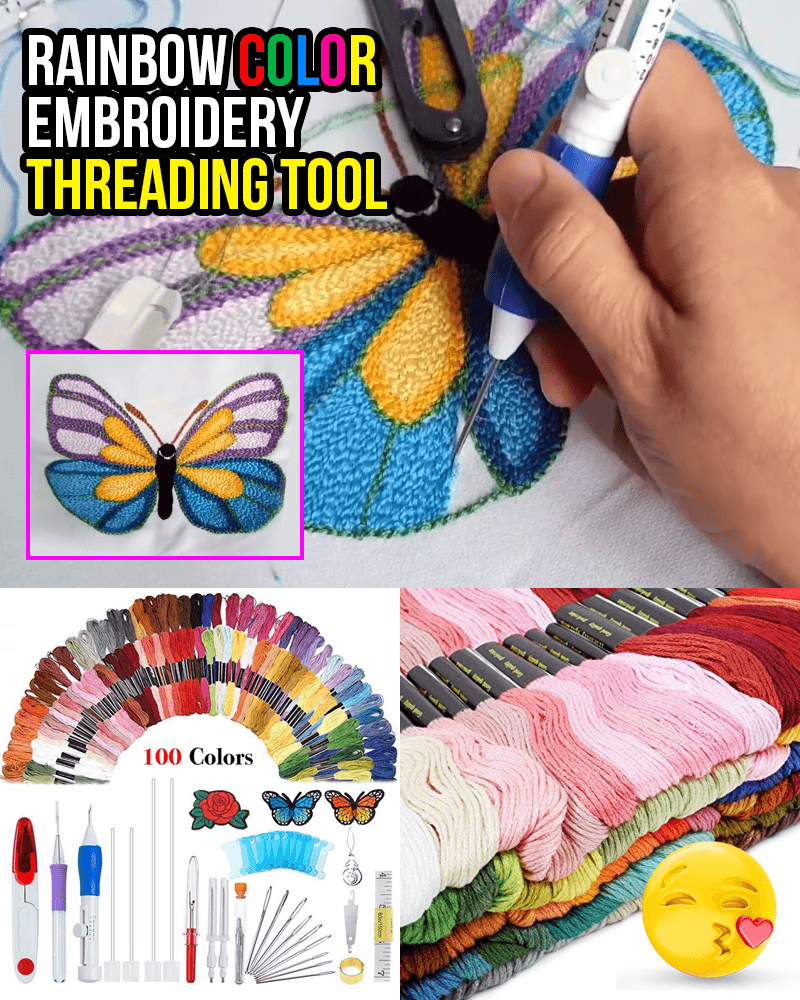 Rainbow Color Embroidery Threading Tool (136pcs/set)
