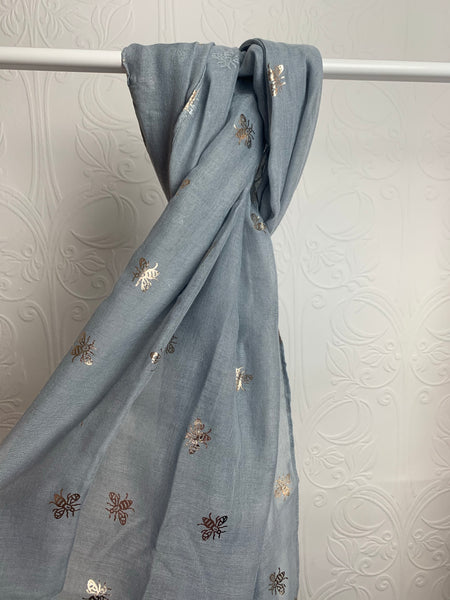 Grey Bee scarf