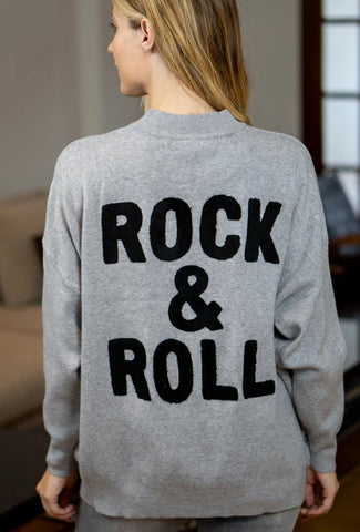 Grey Rock & Roll jumper