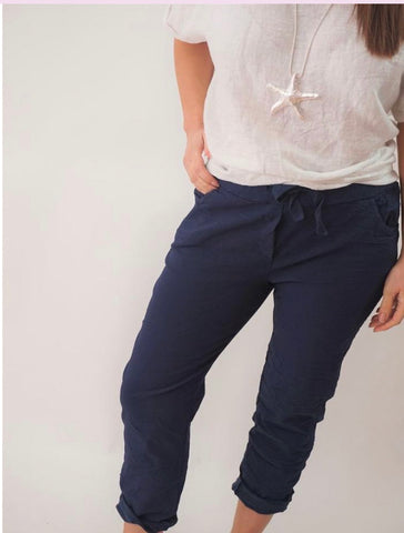 Navy stretch pants  ( magic pants)