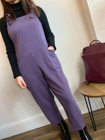 Purple  dungarees ( faded look)