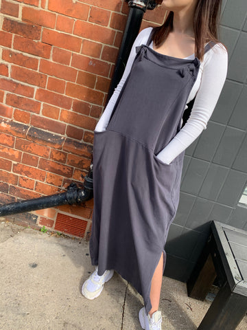 Charcoal Grey Pinafore