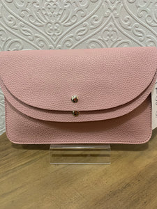 Pink cross body / clutch bag