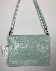 Leather crossbody bag in mint green