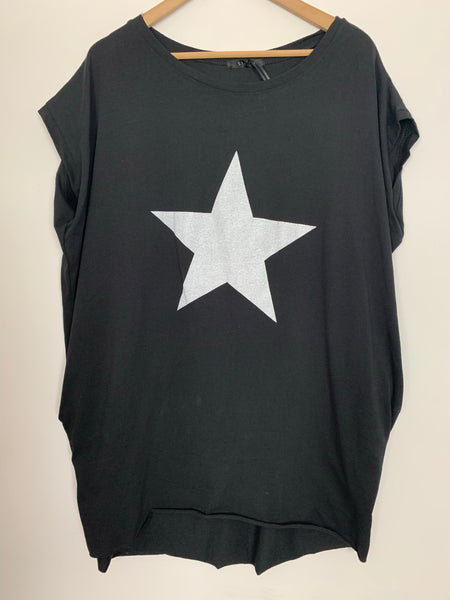 Black tunic with white star