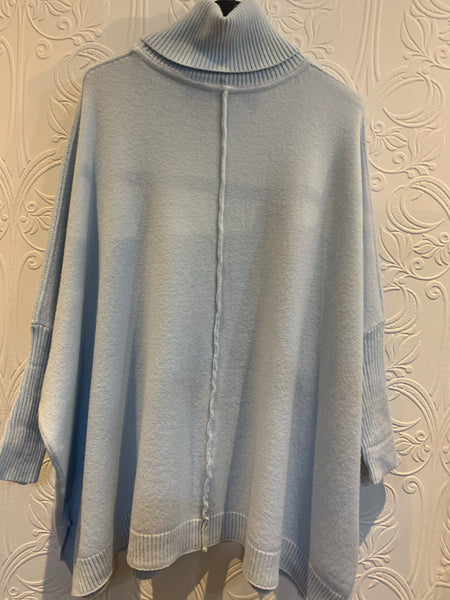 Blue oversized jumper