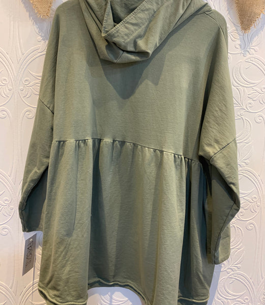 Khaki  hooded top