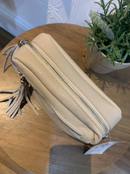 Small Cream Leather Bag
