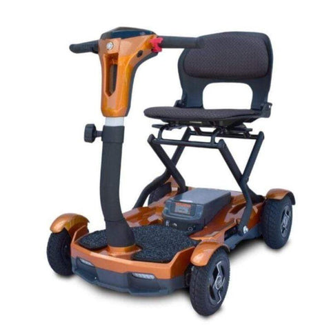 EV Rider Teqno Self-Folding Compact Lightweight Mobility Scooter S26 In Orange