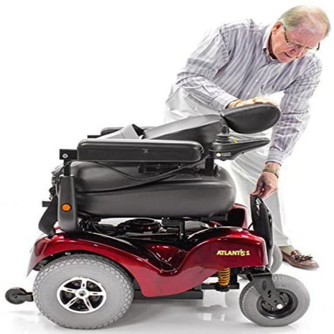 Merits Health Atlantis Heavy Duty Power Chair P710 With Man Folding Seat