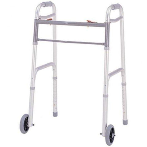 "Merits Health Deluxe Folding Walker with 5"" Wheels W124"