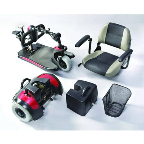 Merits Health Mini-Coupe S539 3-Wheel Mobility Scooter Disassembled