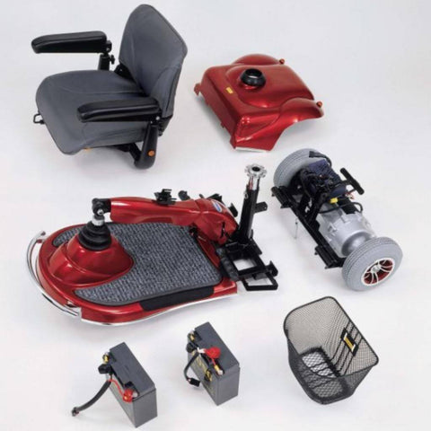 Merits Health Pioneer 2 S245 4-Wheel Mobility Scooter Disassembled for Travel