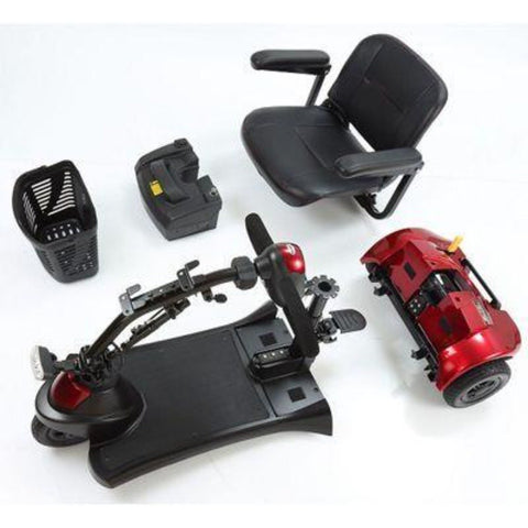 Merits Health Roadster Deluxe S731 3-Wheel Mobility Scooter Disassembled
