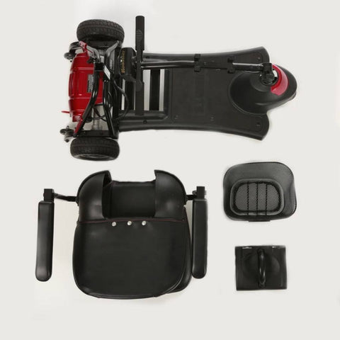 Merits Health Roadster Mini 3-Wheel Mobility Scooter S730 Disassembled For Travel