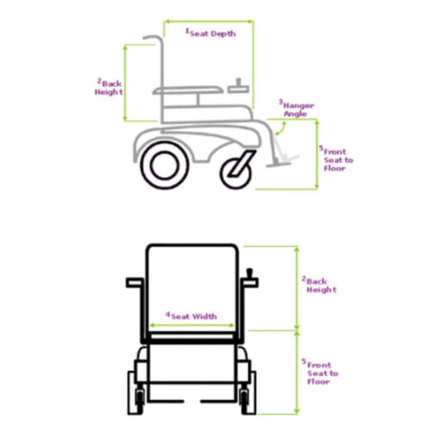 Merits Health Travel-Ease Folding Power Chair P101 Measurement Guide