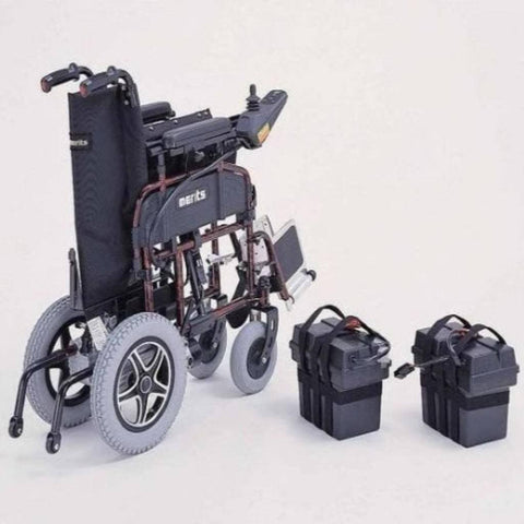 Merits Health Travel-Ease Folding Power Chair P101 Folded With Batteries Removed