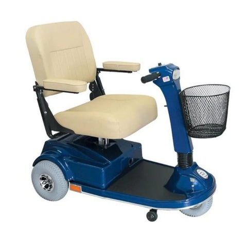 PaceSaver Espree Atlas 3-Wheel Bariatric Scooter 15035 In Blue With Tan Seat