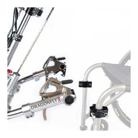 Rio Mobility Dragonfly 2.0 Manual Handcycle Connection Ports