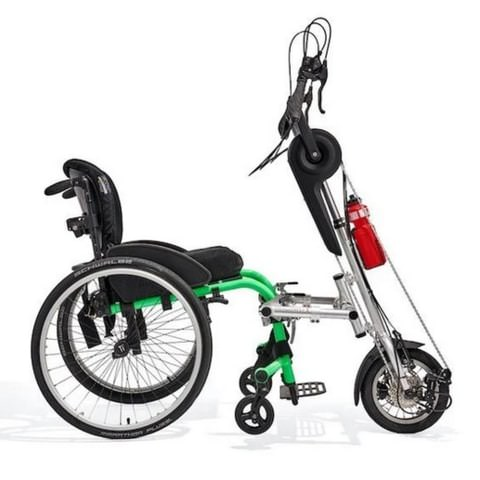 Rio Mobility Dragonfly 2.0 Handcycle Attached To Wheelchair