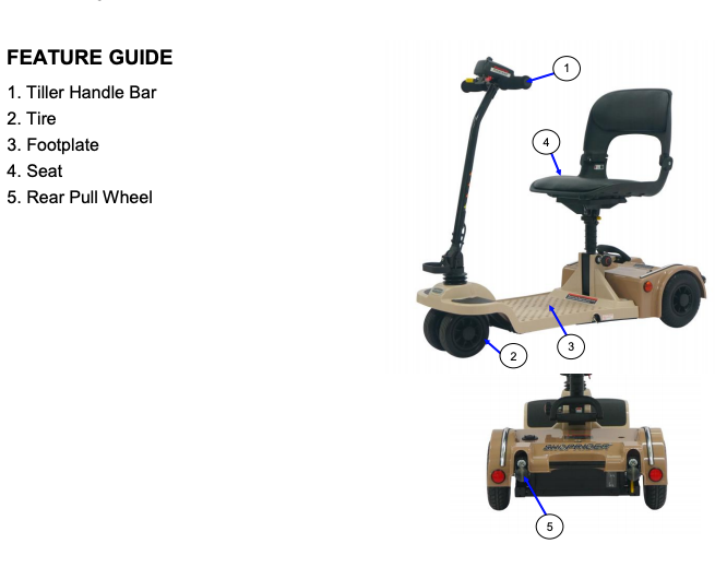 Shoprider Echo Folding 4 Wheel Mobility Scooter FS777 Feature Guide