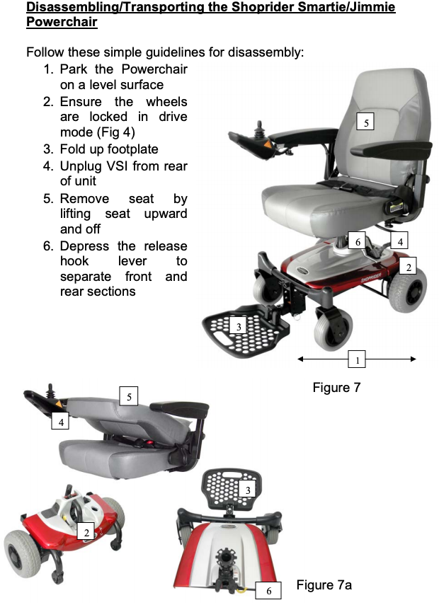 Shoprider Jimmie Captain Seat Travel Power Chair UL8WPBS