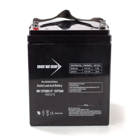 Bright Way Group BW12750 - 12V 75AH SLA Battery