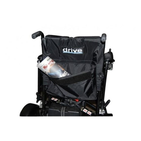 Image of Drive Medical Cirrus Plus EC Folding Power Wheelchair CPNFBA Seatback Storage Area