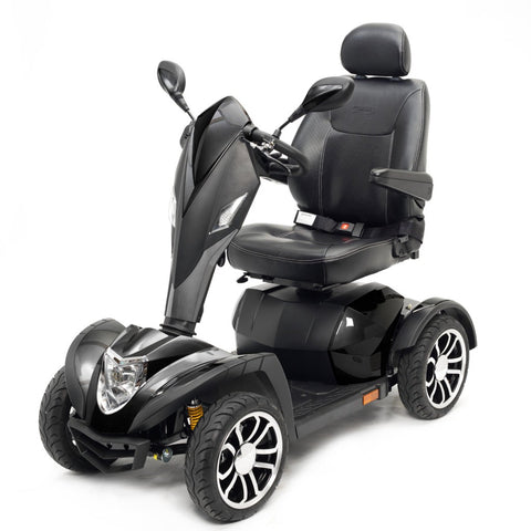 Drive Medical Cobra GT4 Heavy Duty Power Mobility Scooter COBRAGT22CS With Thick Cushioned Captain's Seat And Rearview Mirrors