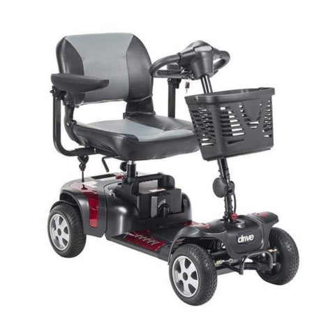 Drive Medical Phoenix HD 4 Wheel Mobility Scooter PHOENIXHD4 With Large Front Basket And Folding Armrests