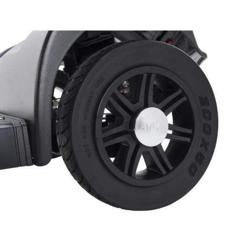 Image of Drive Medical Spitfire Scout 4 Wheel Compact Travel Scooter SFSCOUT4 Thick Rubber Tire