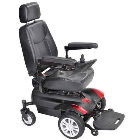 Image of Drive Medical Titan AXS Mid-Wheel Power Wheelchair TITANAXS With Thick Seat Cushioned Captain's Seat