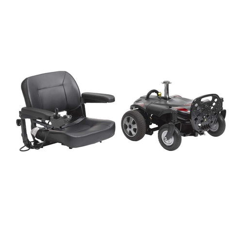 Drive Medical Titan LTE Portable Power Wheelchair TITANLTE-18FS Disassembled Into Two Pieces For Easy Travel