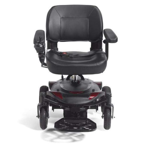 Drive Medical Titan LTE Portable Power Wheelchair TITANLTE-18FS Front View With Foot Support To The Front