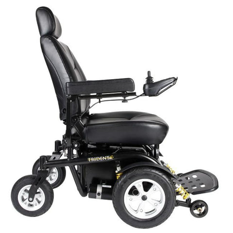 Drive Medical Trident HD Front Wheel Drive Power Wheelchair 2850HD With Joystick Mounted On Right Armrest