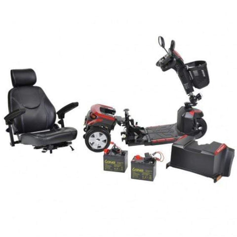 Drive Medical Ventura DLX 3 Wheel Mobility Scooter VENTURA320CS Disassembled For Easy Travel