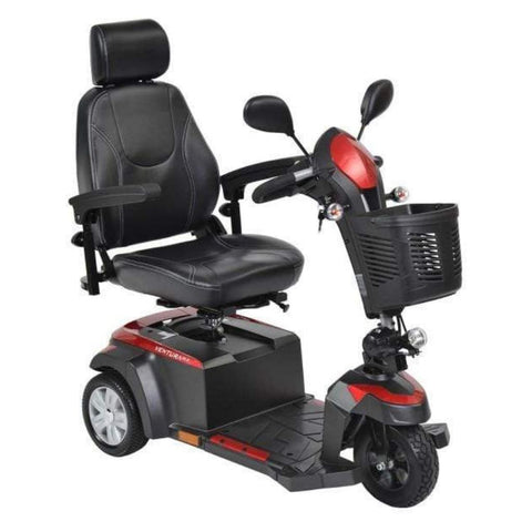 Drive Medical Ventura DLX 3 Wheel Mobility Scooter VENTURA320CS With Key In Ignition
