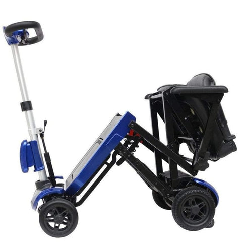 Image of Drive Medical ZooMe Auto-Flex Electric Folding Mobility Scooter FLEX-AUTO Partially Folded For Easy Travel