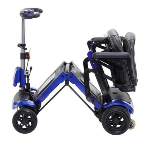 Drive Medical ZooMe Flex Folding 4 Wheel Travel Scooter FLEX Being Folded