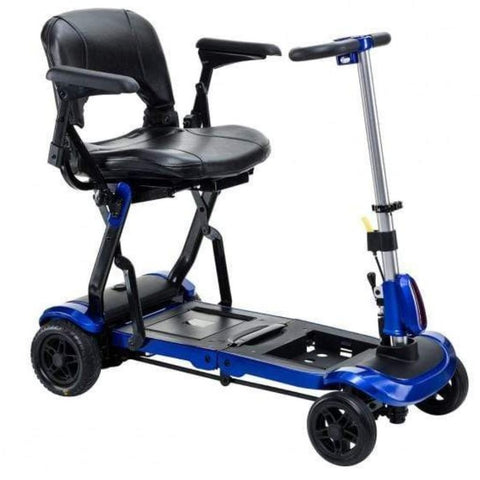Drive Medical ZooMe Flex Folding 4 Wheel Travel Scooter FLEX In Blue