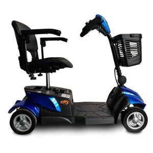 EV Rider CityCruzer Portable 4-Wheel Mobility Scooter In Blue