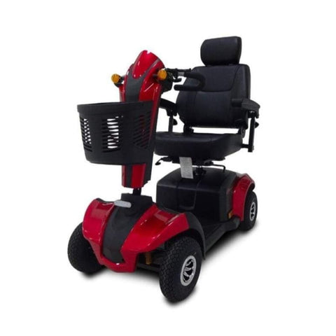 Image of EV Rider CityRider Compact 4-Wheel Full-Suspension Mobility Scooter M4JP6 In Red