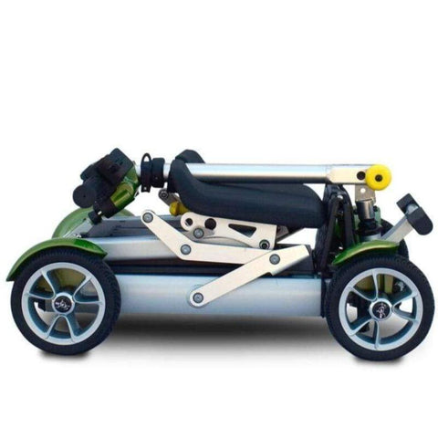 EV Rider Gypsy Compact 4-Wheel Super Lightweight Mobility Scooter Folded In Green