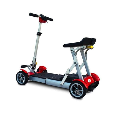 EV Rider Gypsy Compact 4-Wheel Super Lightweight Mobility Scooter In Red