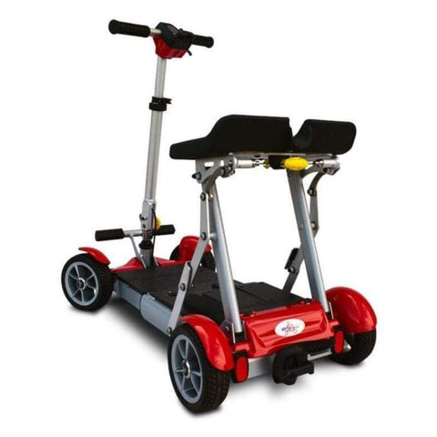 EV Rider Gypsy Compact 4-Wheel Super Lightweight Mobility Scooter In Red Rearview