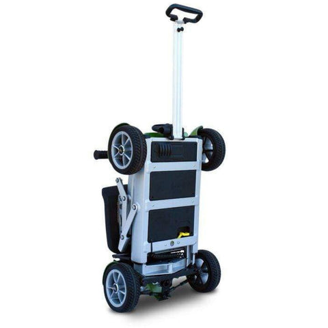 EV Rider Gypsy Compact 4-Wheel Super Lightweight Mobility Scooter With Suitcase Handle Extended For Travel