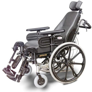 EV Rider Heartway Spring Manual Wheelchair with Rehab Reclining Seat HW1 With Seat Reclined