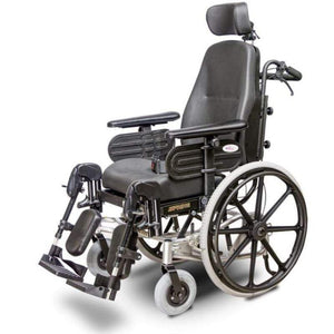 EV Rider Heartway Spring Manual Wheelchair with Rehab Reclining Seat HW1 With Large Headrest